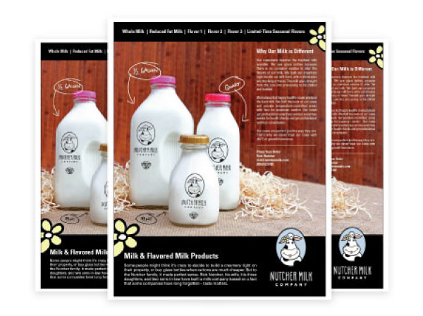 Nutcher Milk Company Sales Materials by Farm To Shelf