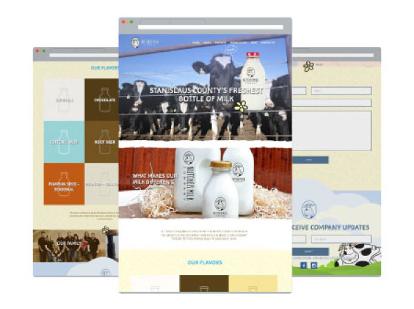 Nutcher Milk Company Website Design and Development by Farm To Shelf