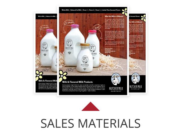 Nutcher Milk Sales Material