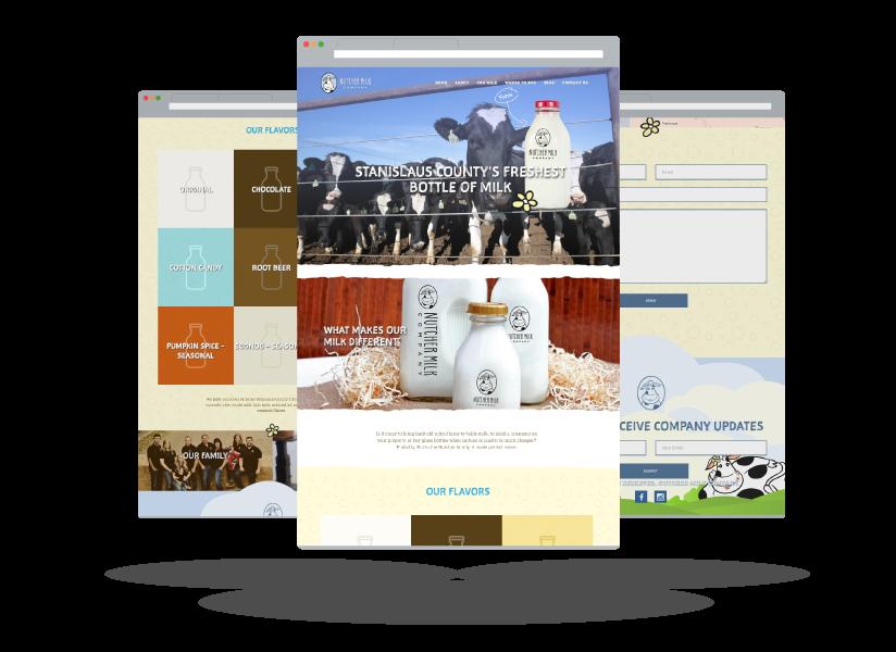 Screenshots of Nutcher Milk Company's website Screenshots of Nutcher Milk Company's website created by Farm To Shelf