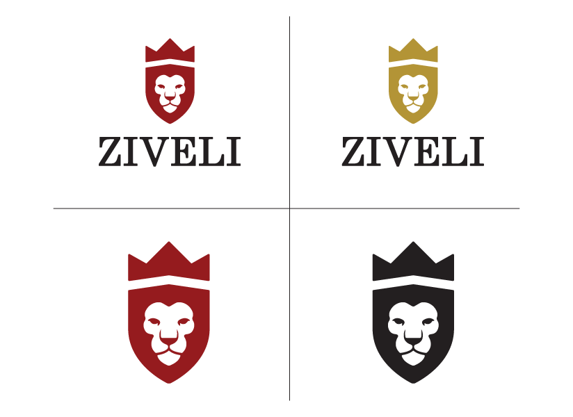 Ziveli logo variations created by Farm To Shelf