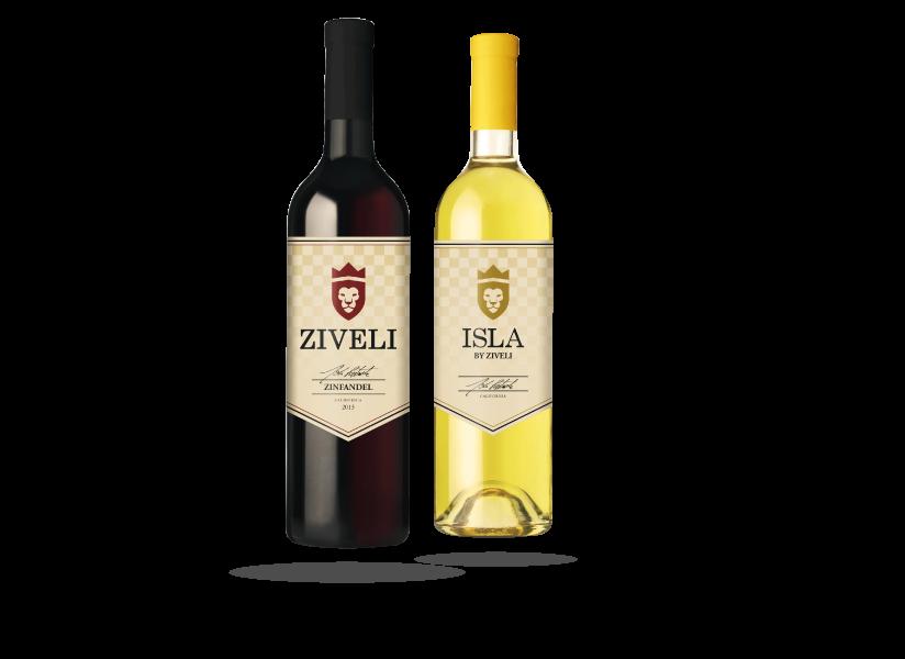 Ziveli Wine Labels design by Farm To Shelf