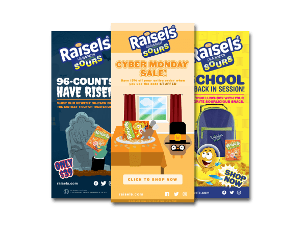 Raisels Email Marketing by Farm To Shelf
