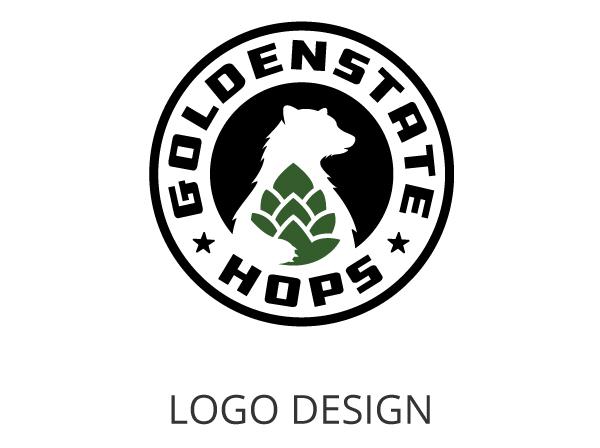 Golden Hops Logo
